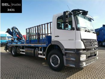 شاحنة Mercedes-Benz Axor 1833 L / Glastransport / Kran / German
