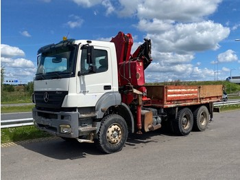 شاحنة Mercedes-Benz Axor 3340 platform with crane
