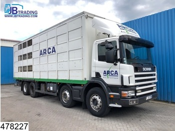 Scania 114 380 8x4, Manual, Retarder, Animal transport, 3 layers, Remote - شاحنة نقل المواشي شاحنة